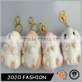 Promotional Lovely Mini Mouse Fabric Bag Charm Keychain Bag Hanger Hook