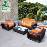 2016 hot sale cheap rattan garden sofa set outdoor rattan furniture with cushions                                                                         Quality Choice