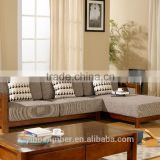Yihua Gabon Series New Chinese Style Wooden Furniture Model Home Sofa Set