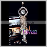 Dream Catcher With Feather Wall Hanging Crystal METAL Decoration Ornament