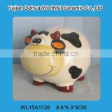 Hot selling popular animal money bank,ceramic cow piggy bank,ceramic cow money box                                                                         Quality Choice