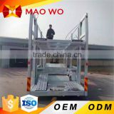 Hot Heavy duty Hydraulic lifting 2 axles car carrier trailer car transport truck trailer for sale