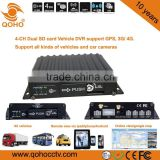 128G Dual SD Card 4 CH Linux Car Mobile DVR , City Bus 4CH SD Card Mobile Dvr Surveillance System