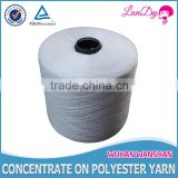 202 close virgin factory price in cone or hany yarn semi-dull knitting and weaving 100pct polyester sewing thread
