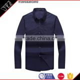 Plain Black Trendy High quality Dress/office long sleeve shirt for latest best quality men square collar