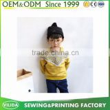 Custom Made boys cotton hoodie wholesale color combination plain hoodies without hood for kids