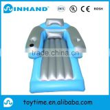 New design home furniture blue pvc inflatable water float air mattress, customised inflatable water pool lounger air bed