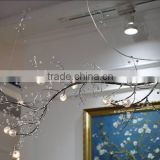 RORO enamel and pewter crystal glass Modern glass droplight pendant lamp for hot selling home decoration craft and gift