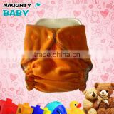 Wholesale high quality Organic Bamboo Velour fitted baby boy girl Cloth diaper bamboo cotton inner