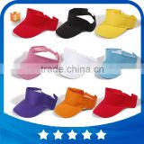 Wholesale promotional sport cotton empty top sun visor hat golf sun caps sun hat with hook and loop back closure