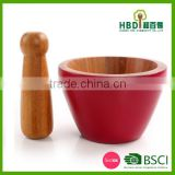 Hot new products for 2016 varnished Natural bamboo Mortar And Pestle,Cheap Mortar And Pestle,Kitchen Mortar And Pestle Set