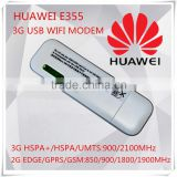 Unlocked New Original HSPA 21.6Mbps HUAWEI 3G USB Modem WiFi Router And HUAWEI E355 Mobile WiFi