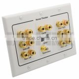 Home Theater 7.1 Surround Sound Speaker sound box Wall Plate + HDMI + Audio Banana
