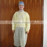 disposable yellow pp surgical gown