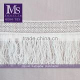 Inquiry about 2016 wholesale new 18cm white long silk tassel fringe for curtain or dress