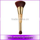 High end Double sided Fiber hair Fan Blush brush, Duo end Bamboo make up blush brush, brush make up