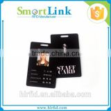 best selling dual frequency rfid smart card,printable rfid PVC card with a punched hole for a ccess control