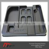 ABS rectangle inside plastic tray, the part of tool box by vacuum forming
