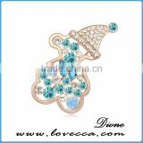 Top quality shine fancy brooch,promotional fashion woman brooch