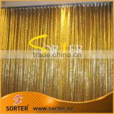 gold supplier wholesale sequin curtain fabric