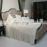 Elegant luxury simple design bedroom set,bed,sidetable,dresser&mirror, hand made and can be customized--BG90440 MOQ:1 SET