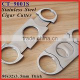 (CT-9001S) Stainless Steel Tobacco Cutter Guillotine Prometheus Cigar Cutter