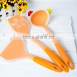 Girls cooking sets silicone kitchen utensil set,chinese cooking tools for non-stick pan