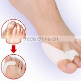 2016 Shuoyang Factory wholesale Medical silicone soft fabric gel hallux valgus/bunion toe separator