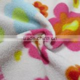 100% polyester 2 side brushed 1 side, anti-pilling polar fleece solid dyed or print fabric,printed designer polar fleece fabric