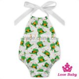 St.Patricks Day Baby Clothing Designs Of Punjabi Suits Printed Green Hat Adult Romper Pajamas Onesie