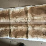 Factory wholesale raw or dyed color thick and soft real rabbit fur skin plate