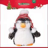 CE Christmas Cap Hat Gift Soft Stuffed Penguin Plush Toy