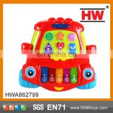 Funny Plastic Kids Toy Cartoon Car Shaped Musical Keyboard Piano Sale