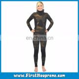 Freediving Scuba Stealth Camo Style Neoprene Womens Spearfishing Open Cell Wetsuits