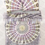 Indian Ombre Mandala Doona Duvet Cover Blanket Bedding Set With Two Pillow Cover Art