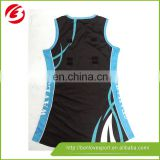 100% top polyester best price custom netball jersey