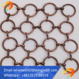carbon steel Decorative ring metal mesh for partition wall