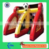 two players inflatable shooting game inflatable soccer machine