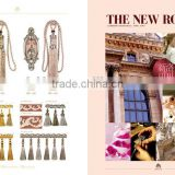 The New Rococo style--nickel and light pink,curtain tassel fringe,wholesale tassels,tassel and fringe