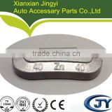 Zn clip-on wheel balance weights (lead free), for steel rims, made on imported fully-automatic pressure die-cast machine.