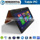 China factory OEM free sample 10.1 inch 1280x800 IPS Win 10 and Android 4.4 Dual os intel Yoga Tablet pc
