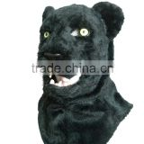 plush black panther animal head masks for party,animal Halloween mask with awesome eyes and mesh design for kids