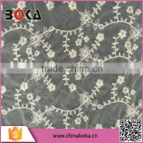 Fashon Offwhite width 150cm mesh lace fabric Factory Direct Sales Trimming Lace fabric;wholesale mesh lace fabric