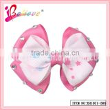 China supply factory product reasonable price elegant ribbon bow cute hair accessories for baby girl (XH1001-586)