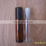 10ml Empty Amber Brown Glass Roll on bottles, Bottles with Metal Roller Balls & Silver Cap, Travel Size Roller Bottle