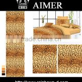 trade assurance cotton twill 40x40/ 133x72 printed fabric with animal skin design for KING, Queen size bed sheet