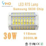 30W high power LED R7S Lamp with 118mm length