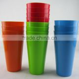 18oz plastic cup PP Food grade plastic water tumbler BPA Free water cup custom color custom logo factory price