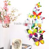 H-003 H003 12PCS 3D Vivid PVC Magnet Butterflies Magnetic Butterfly DIY Wall Sticker Stickers Decal Decals Home Decor Decoration