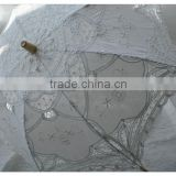 100% cotton fabric lace parasol made in china